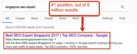 Singapore-SEO-Expert-Page-1-ranking